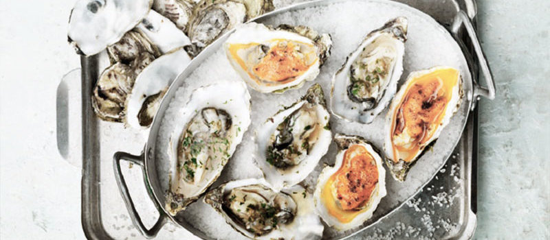Various Oysters Served